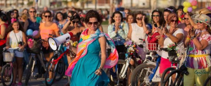 süslü kadınlar bisiklet turu sema gür