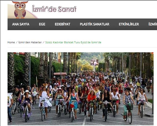 izmirde_sanat_süslü_kadınlar_bisiklet_turu