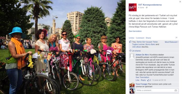 SVT_İsveç_kanalının_Süslü_Kadınlar_Bisiklet_Turu_haberi