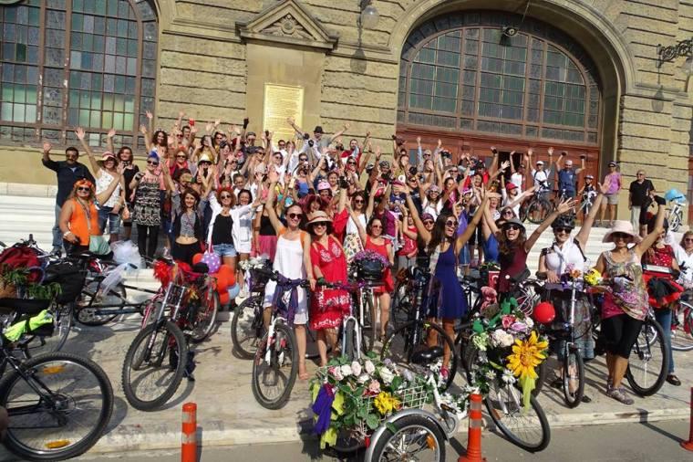 süslü kadınlar bisiklet turu istanbul 2015