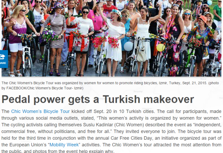 chic women cycling tour