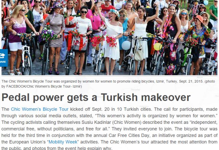 chic women cycling tour