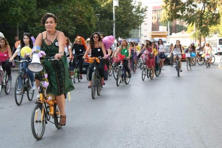 ankara bisikletli kadinlar