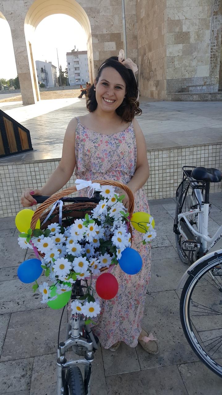 didim bisikletli kadinlar