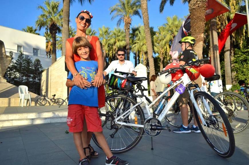 bodrum bisikletli kadinlar