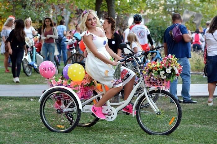 bursa suslu kadinlar bisiklet turu