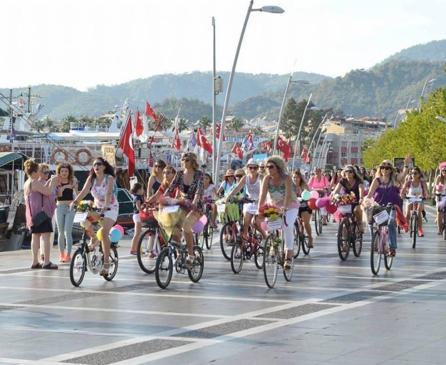marmaris suslu kadinlar bisiklet turu