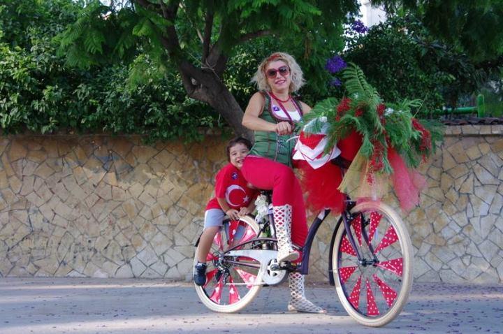 mersin suslu kadinlar bisiklet turu