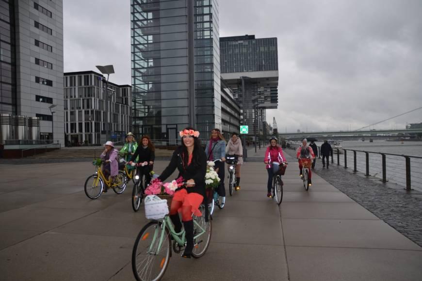 fancy women bike ride